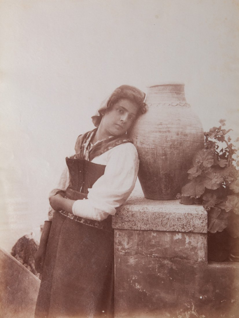 Wilhelm Von Gloeden (1856-1931) Young with amphora, ca.