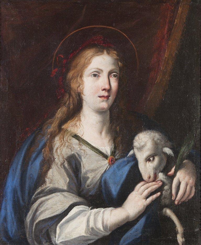 Scuola emiliana, secolo XVII Santa Agnese