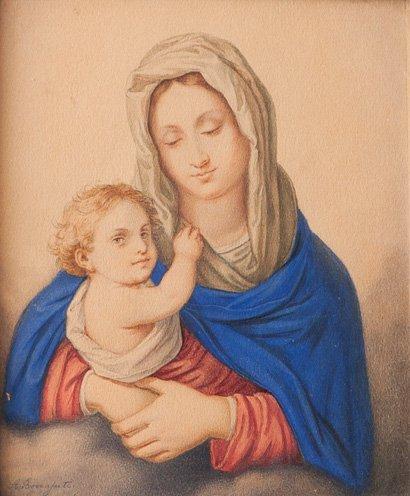 A. Bonajuti, secolo XIX Madonna con Bambino