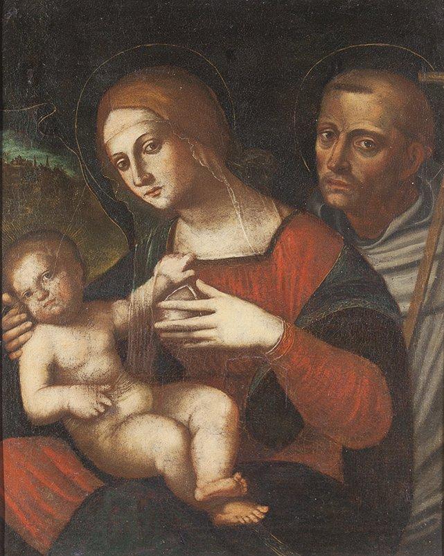 Scuola ferrarese, secolo XVI  Sacra Famiglia