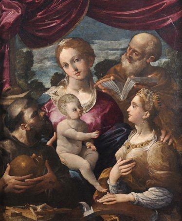 Annibale Castelli (Bologna 1573-1623) Matrimonio mistic