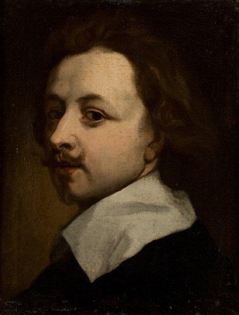 Maniera di Anton van Dyck Ritratto di gentiluomo in abi