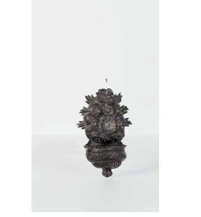 Piccola acquasantiera napoletana in argento