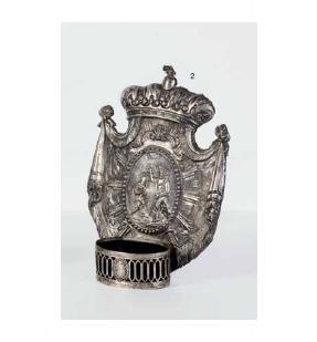 Acquasantiera in argento, Napoli