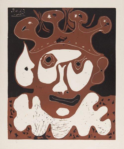 Pablo Picasso (Málaga  1881 - Mougins 1973)  Tête de bu