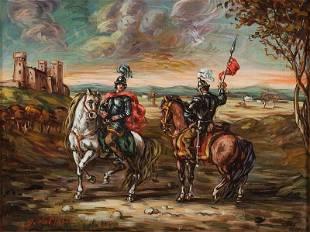 Giorgio de Chirico (Volos 1888 - Roma 1978) Due cavalie