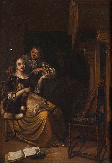 Maniera di Gerritsz. van Brekelenkam   Coppia galante