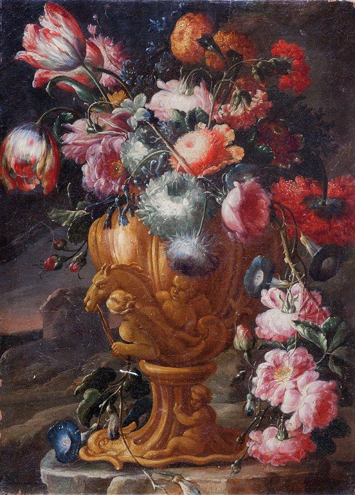 Scuola napoletana, prima metà del secolo XVIII Rose,