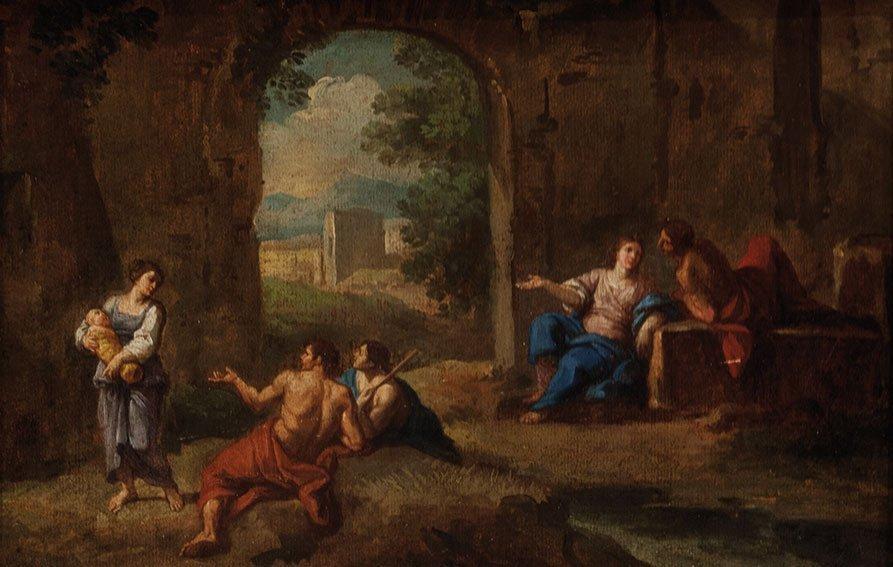 Andrea Locatelli (Roma 1695 – 1741) Studio di figure in