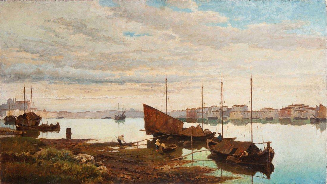 Guglielmo Ciardi (Venezia 1842 - 1917)  Canale della