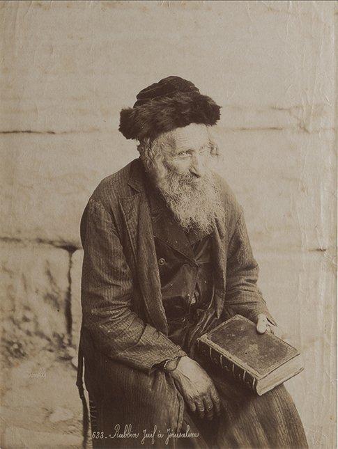 Felix Bonfils (1831-1885) Rabbin juif à Jerusalem, ca.