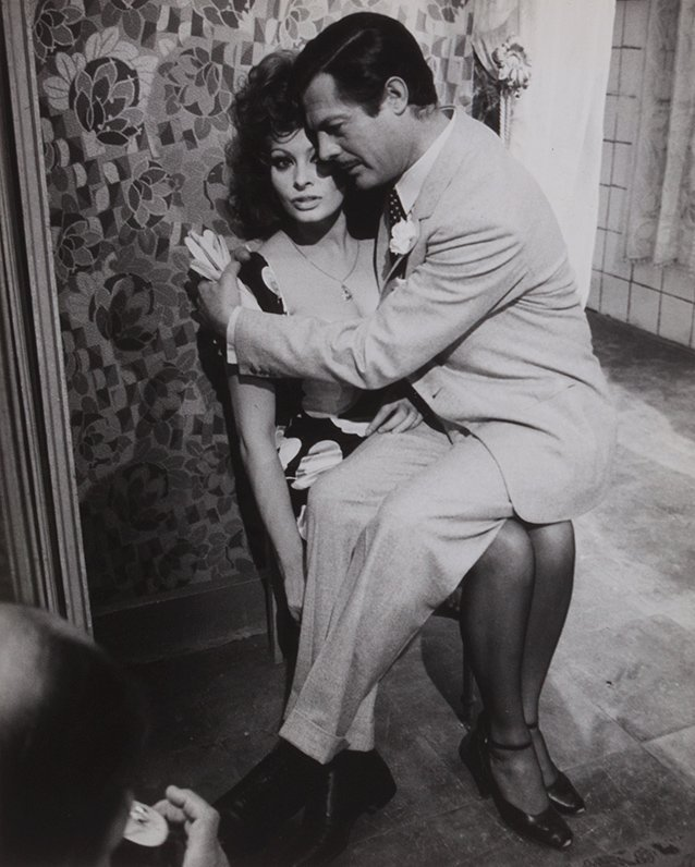 Pierluigi Praturlon (1924-1999) Sophia Loren e Marcello