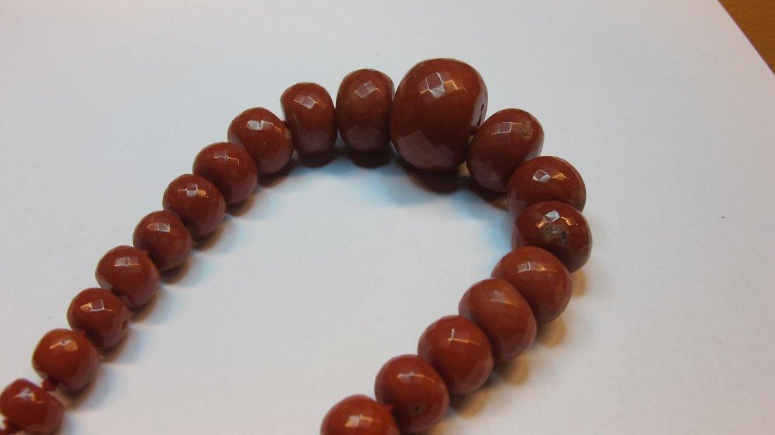 Collana di antico corallo rosso Mediterraneo - 3