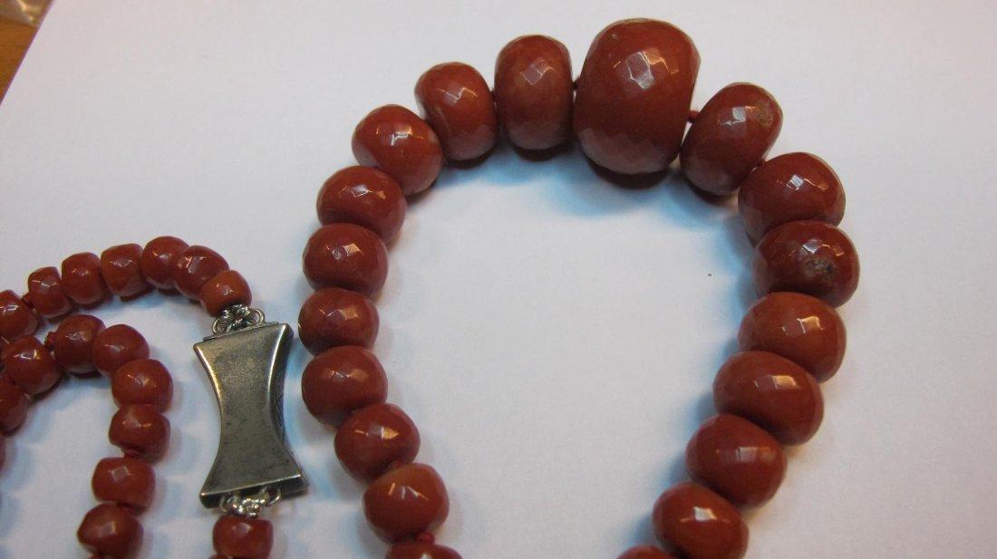 Collana di antico corallo rosso Mediterraneo - 6