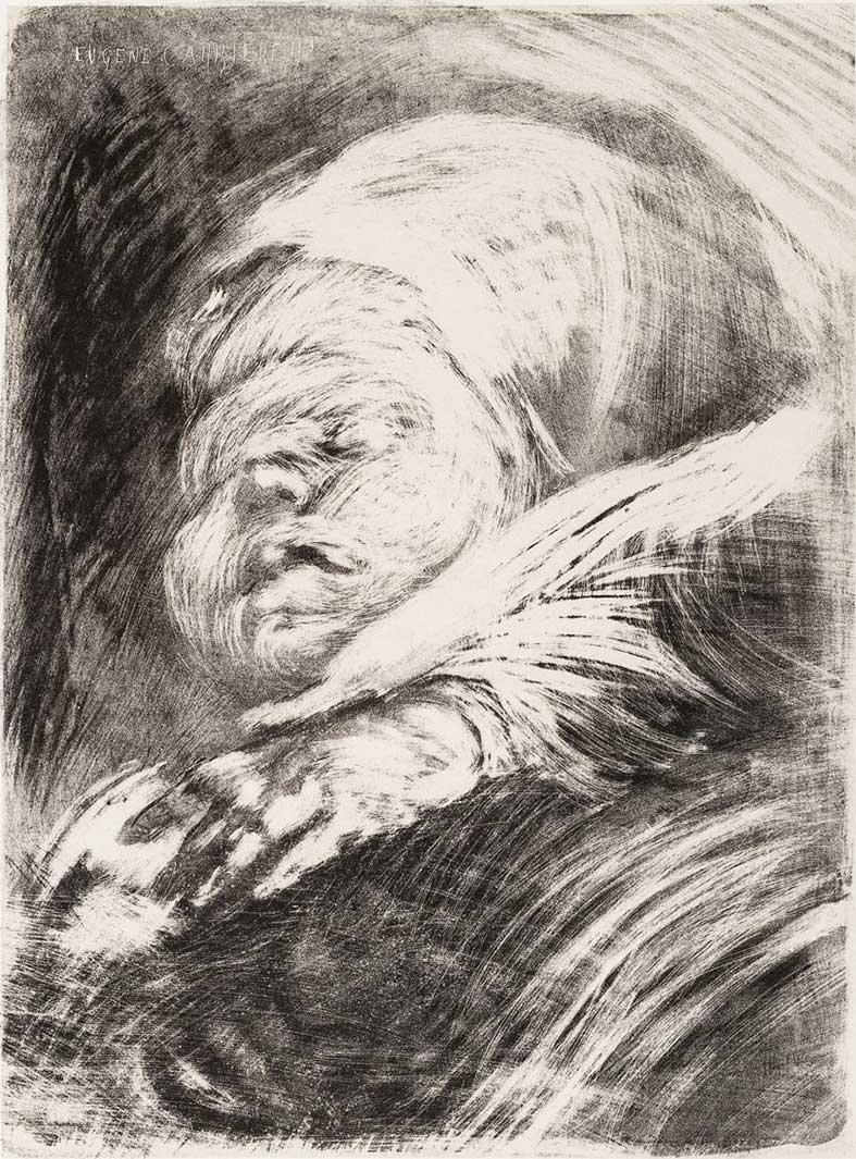 Eugène Anatole Carriere (1849-1906) Le Nouveau Ne Au
