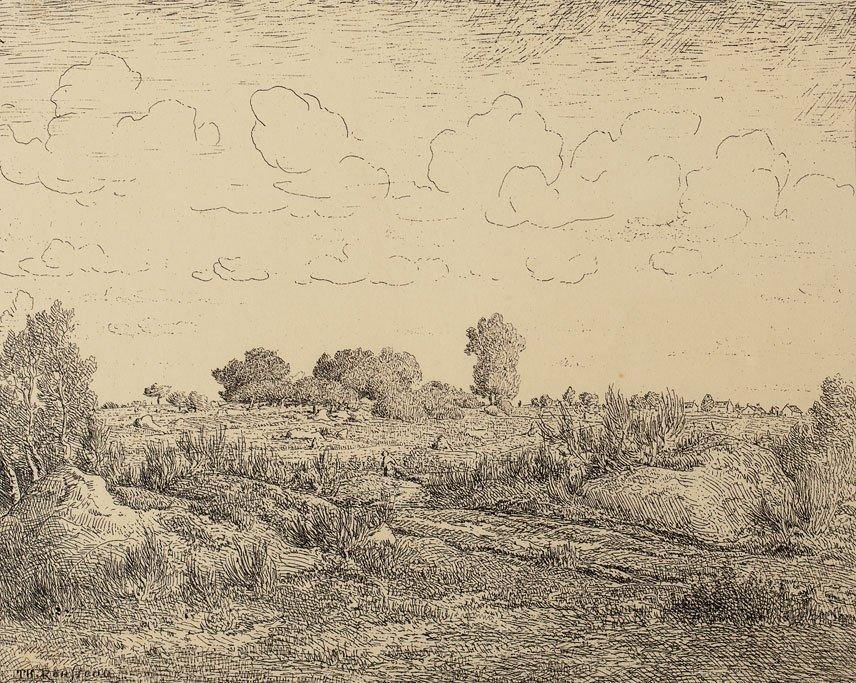 Théodore Rousseau (1812-1867)  Le plaine de la