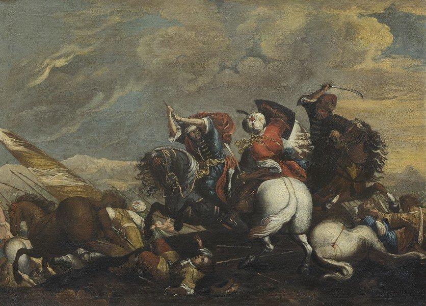 Cerchia di Jacques Courtois, detto Borgognone