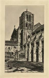 John Taylor Arms Basilica Madeleine Etching