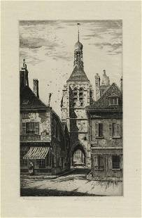John Taylor Arms Notre Dame du Val Etching