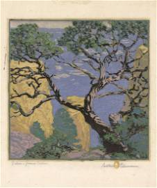 Gustave Baumann,  Pinon Grand Canyon, Woodcut