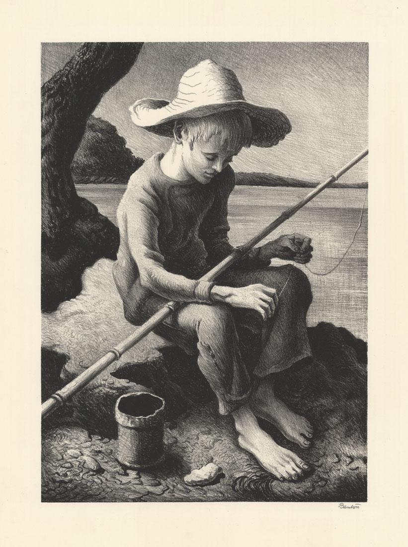 Thomas Hart Benton,  Little Fisherman , Lithograph