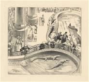 Mabel Dwight, Aquarium, lithograph 1928