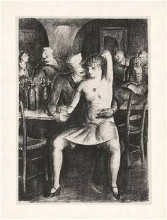 Clark Fay Welcome Bar Lithograph