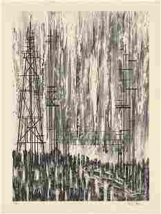 Richard Florsheim Well Towers Lithograph