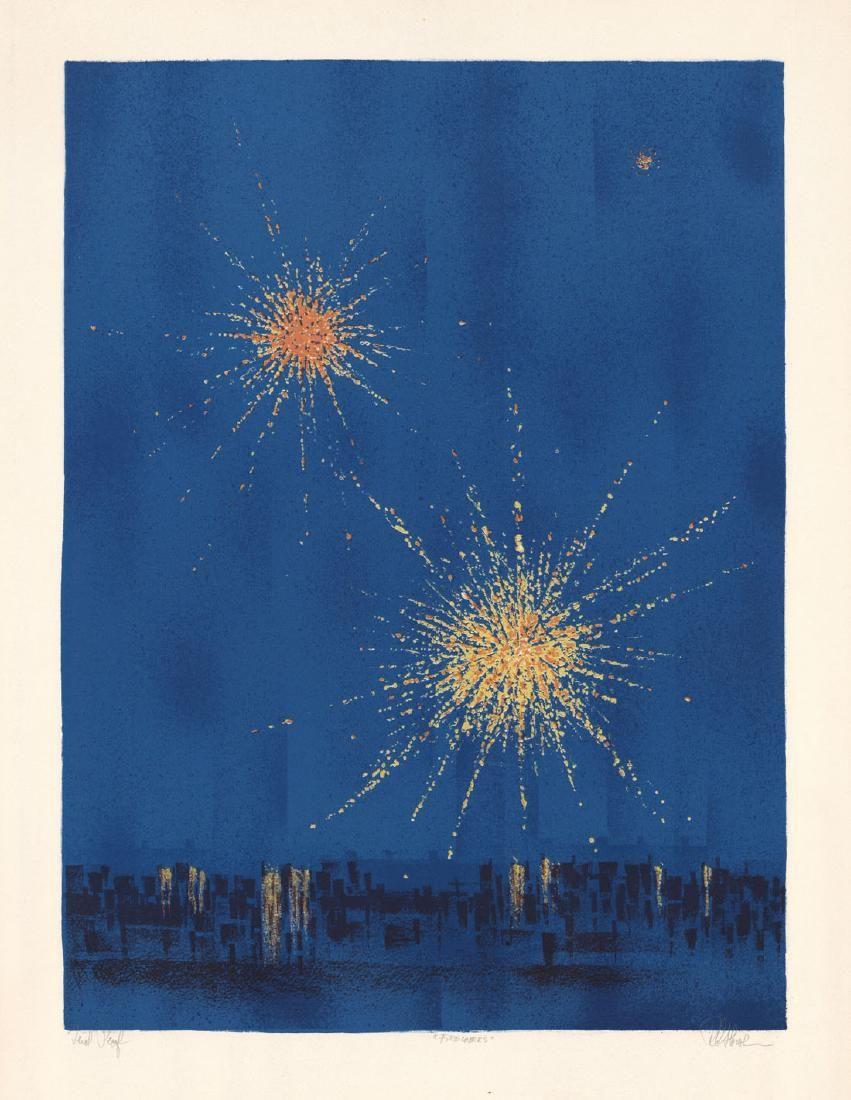 Richard Florsheim, Fireworks, Color Lithograph