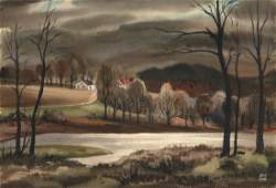 Avery Fischer Johnson, Landscape, Watercolor