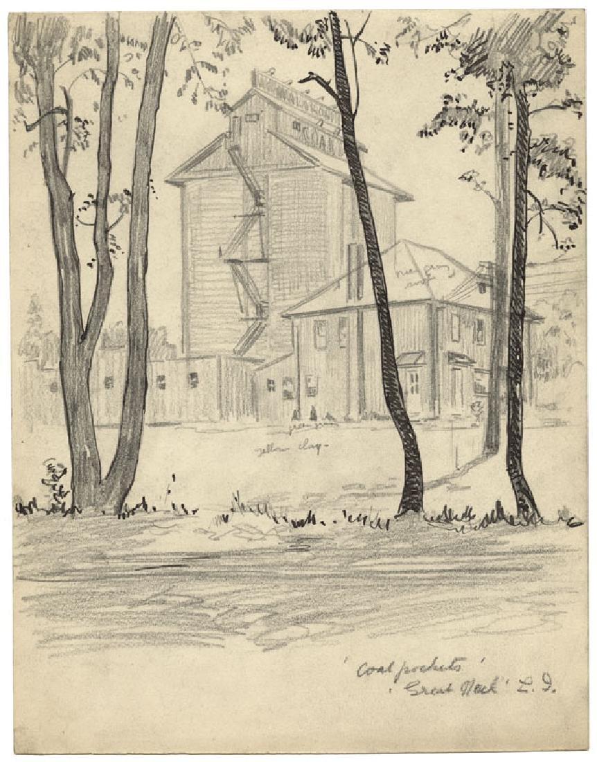 Martin Lewis, Coal Pockets, Drawing