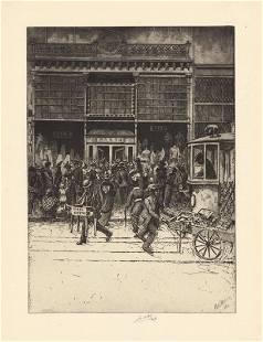 Charles Mielatz Bargain Day Original Etching