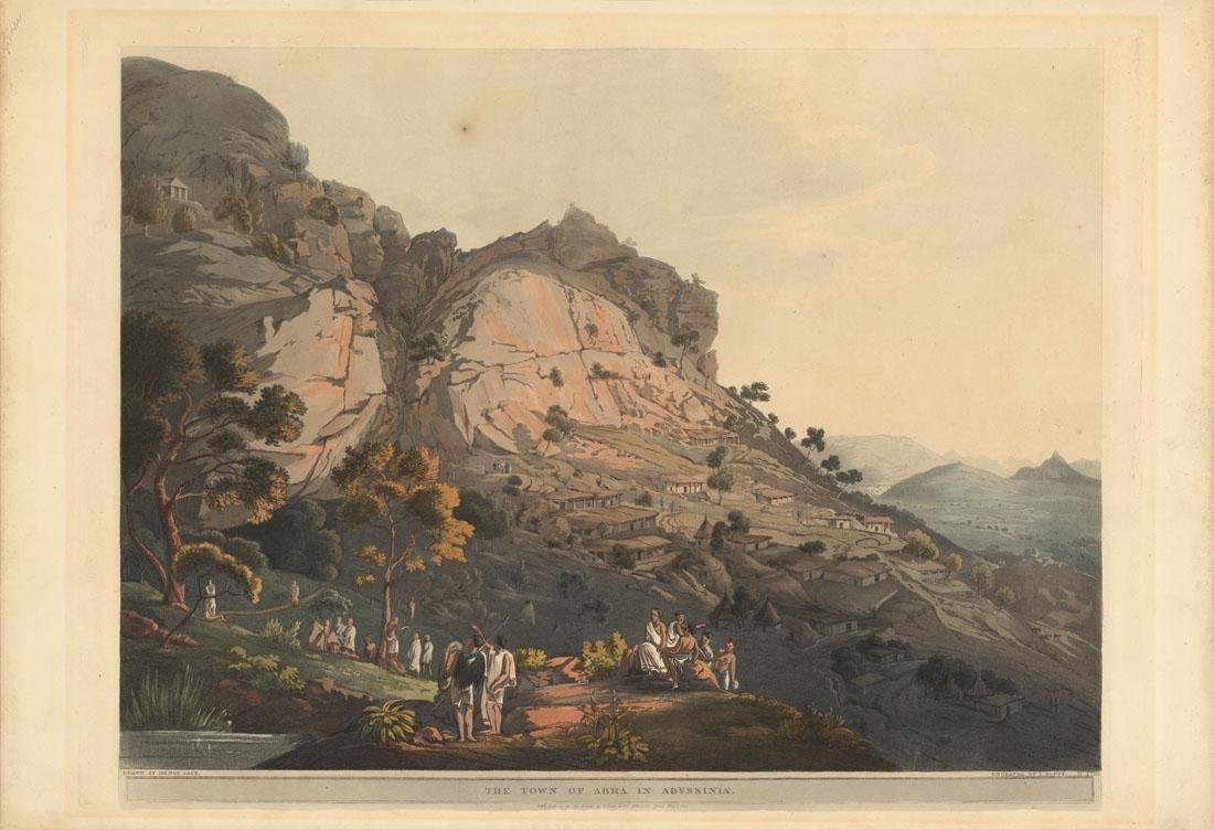 The Town of Abha in Abyssinia, 1809 Aquatint