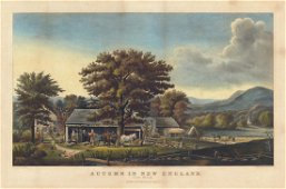Currier & Ives, Cider Making, Durrie, Lithograph