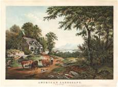 Currier & Ives, American Landscape, Lithograph