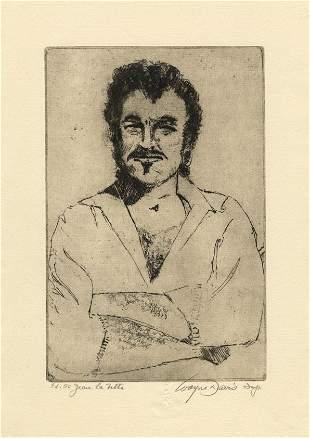 Wayne Davis Jean Lafitte Etching