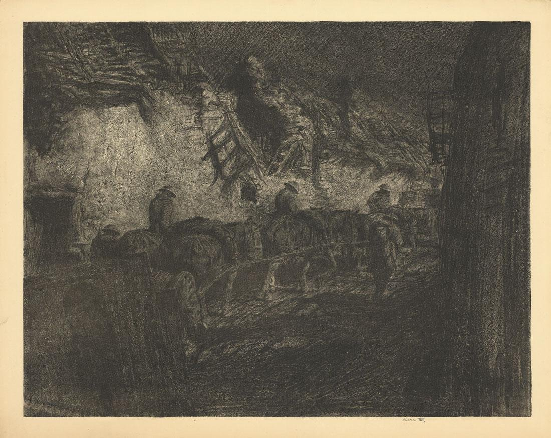 Kerr Eby, The Night March, Lithograph