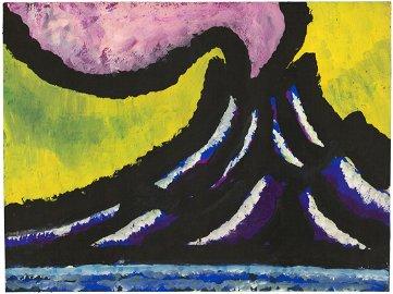 Edward Hagedorn, Volcano, Gouache