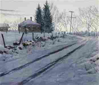 Martin Lewis, Winter Morning, Watercolor