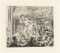 Reginald Marsh, Irving Place Burlesque, Litho