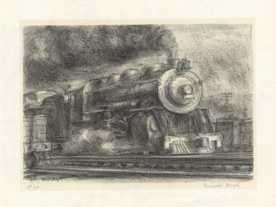 Reginald Marsh, Railroad, Lithograph
