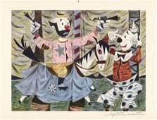 Fletcher Martin, Clown Act, Offset-Lithograph