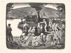 John McClellan, The Swiming Hole., Lithograph