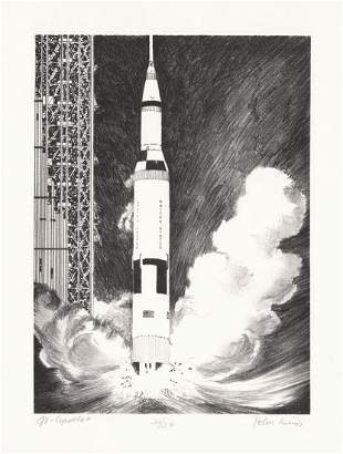 John Meigs Lithograph Go Apollo 11
