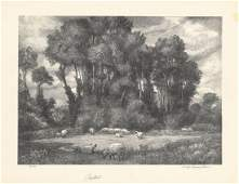 George Laurence Nelson, Pastoral, Lithograph