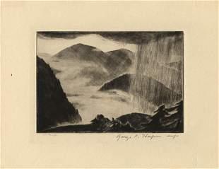 George C Harper original etching