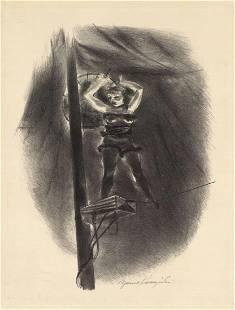 Yasuo Kuniyoshi, Original Litho, Wire Preformer