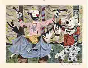 Fletcher Martin, Original Litho, Clown Act