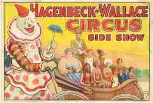 Original Circus Poster Hagenbeck-Wallace Circus