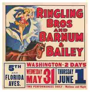 Original Circus Poster Ringling Bros-Barnum